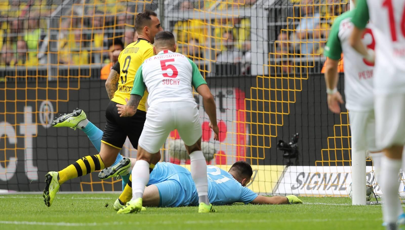 firo: 17.08.2019, football, 1.Bundesliga, season 2019/2020, BVB, Borussia Dortmund - FC Augsburg