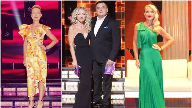 Kolar je u showu mijenjala stil haljina, ali dekolte nije izostao