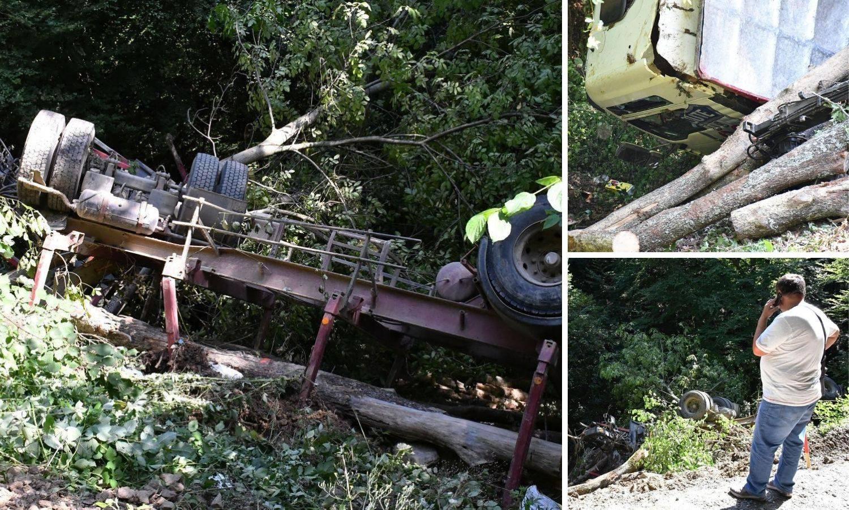Kao u filmu: Kamion završio na dnu provalije, a vozač se spasio skokom iz kabine u zadnji tren