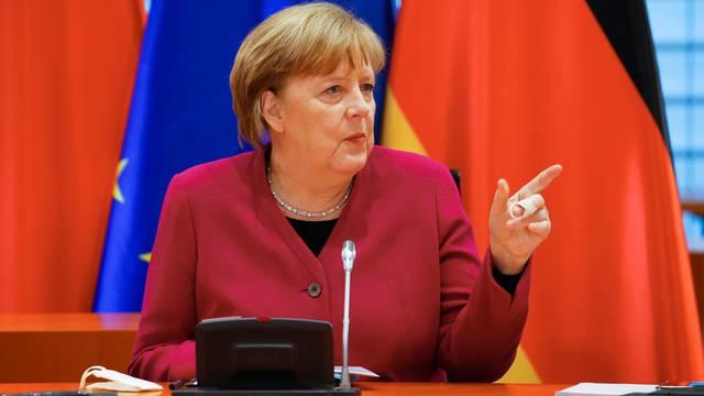 German Chancellor Angela Merkel and Chinese Premier Li Keqiang attend virtual talks