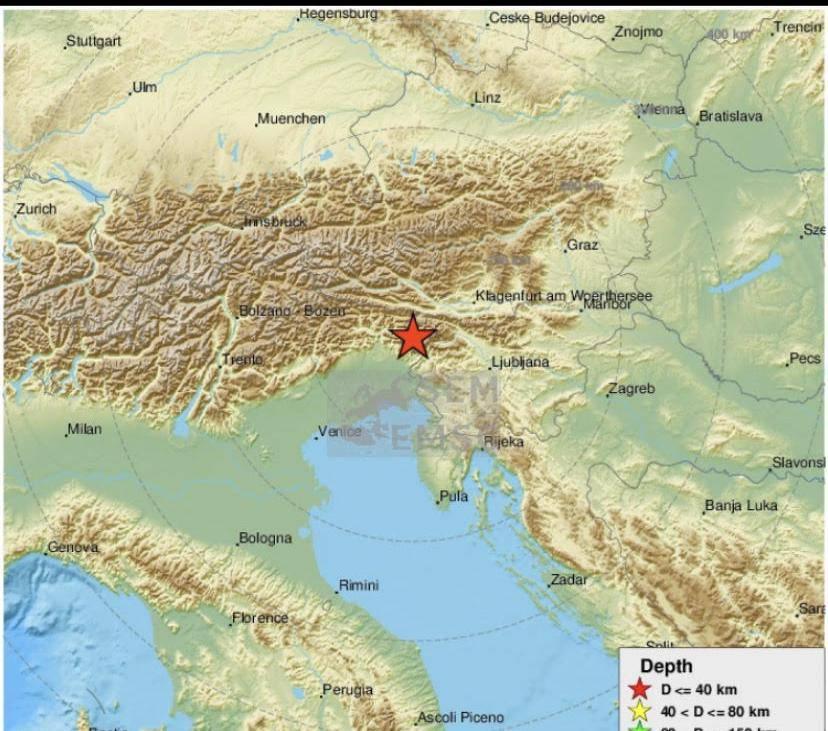 Jači potres probudio Slovence
