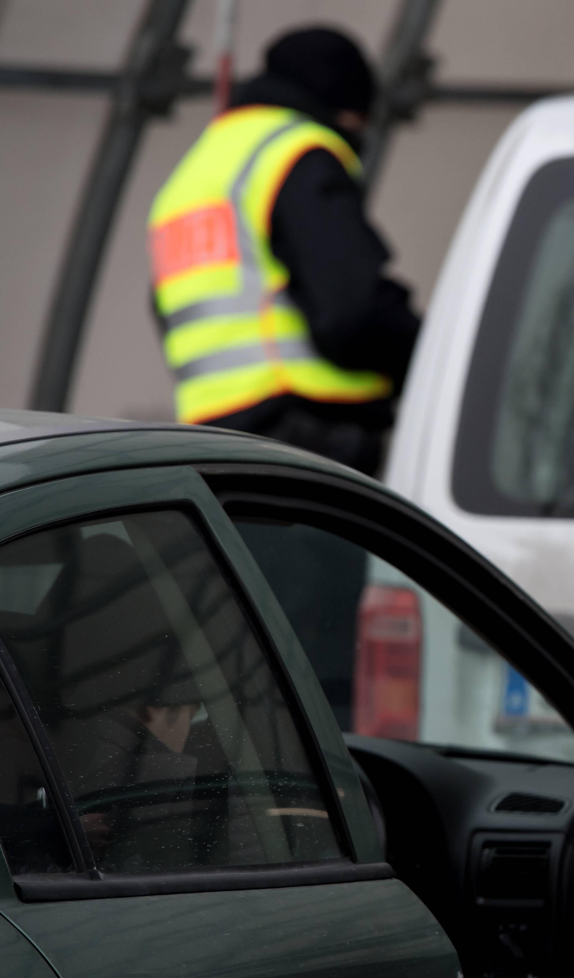 Police controls at the Austrian-German border