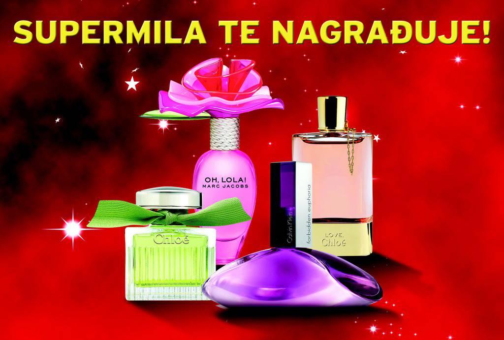 Izvukli smo dobitnike parfema u nagradnoj igri SuperMile!