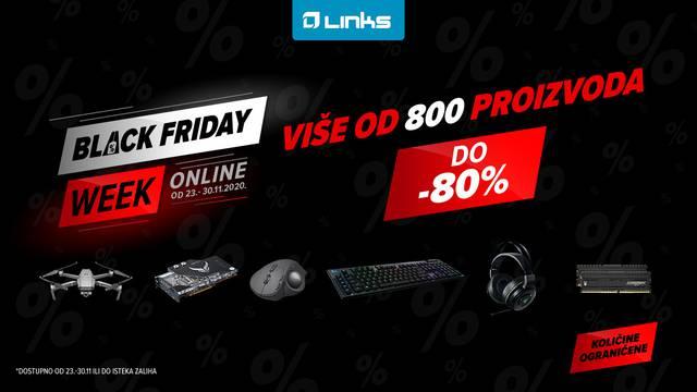 Najpoznatiji Black Friday u Hrvatskoj ove godine postaje Black Friday Week @links.hr