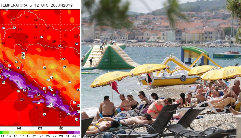 Zadar i Dubrovnik oborili sve rekorde: Temperature do 37°C