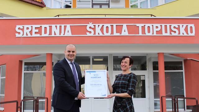 Grupa Končar Srednjoj školi Topusko donirala 100.000 kuna