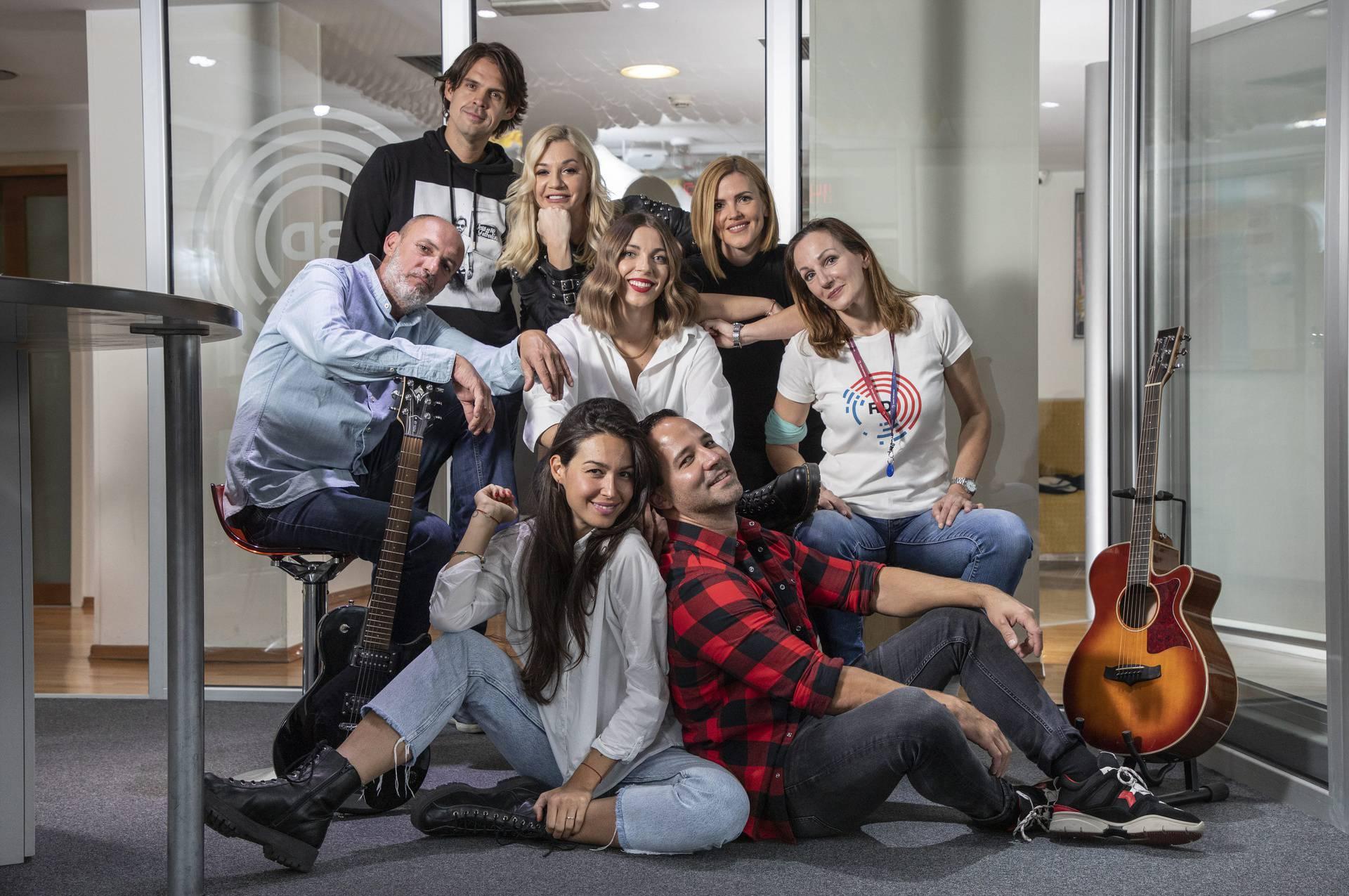 Split, 14.10.2020 - Voditelji Radio Dalmacije.