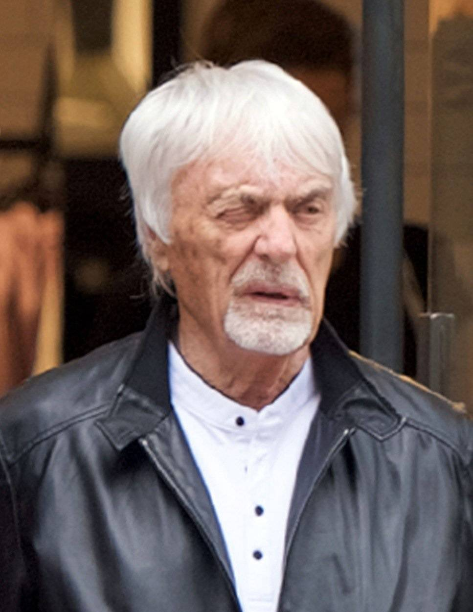 *EXCLUSIVE* Bernie Ecclestone, 88, seems to have a problem opening his right eye as he was seen shopping at Royal's favorite yoga clothing shop Lululemon.