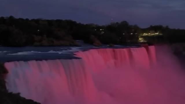 U čast Dana državnosti slapovi Niagare zasvijetlili su u bojama Hrvatske