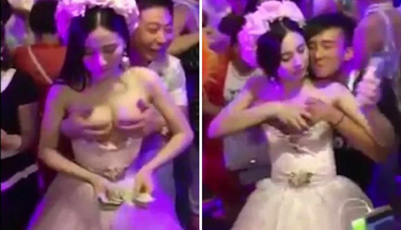 Skupljala za medeni mjesec? Gosti dirali mladu po grudima