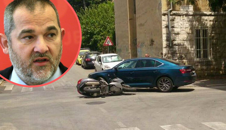Glavni tajnik SDP-a službenim autom naletio na motociklista