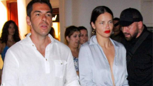 Adriana Lima seens out with -Emir Uyar at Mykonos town, Greece