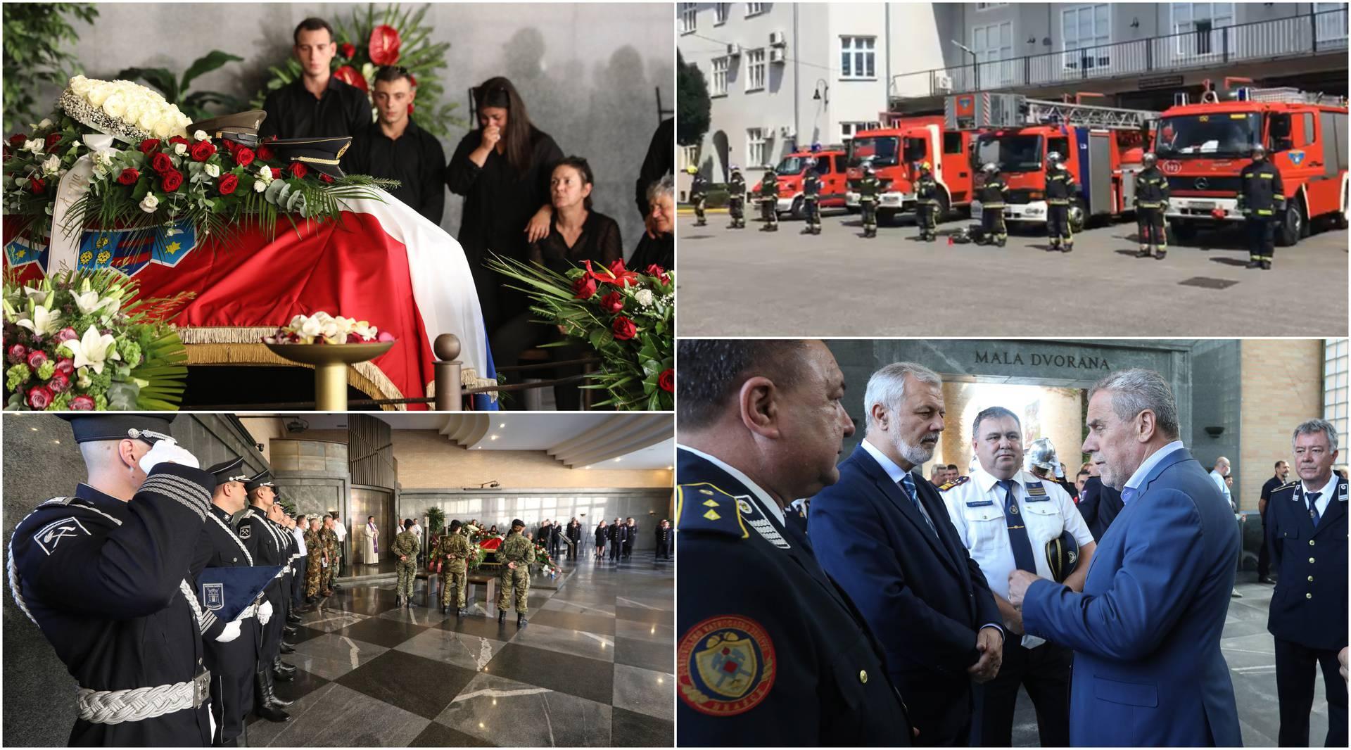 Hrvatska se oprašta od tragično preminulog vatrogasca: Kolege su ga ispratile zvukom sirena...