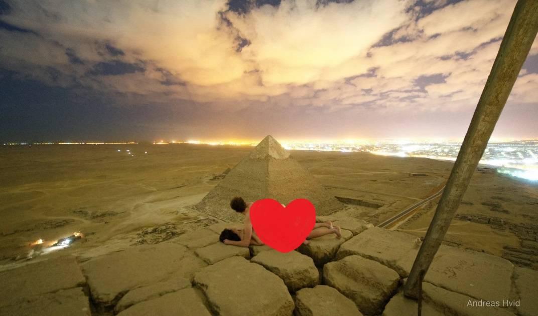 Gnjev u Egiptu: Danac objavio snimku seksa na vrhu piramide