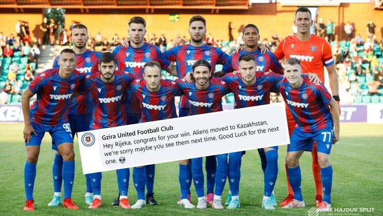 Gzira se opet sprda s Hajdukom: 'Izvanzemaljci su u Kazahstanu'