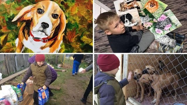 Talentirani dječak mijenja svoje slike da pomogne psima u azilu