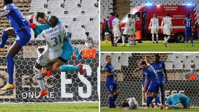 Teški nokaut u Portugalu: Hitna odvela Nanua, golman domaćih ga s obje ruke pogodio u glavu!