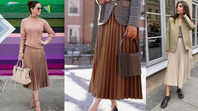 Baš je divna: Plisirana suknja u 10 kombinacija za poslovni look