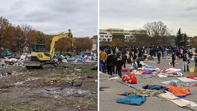 U šatorima pored Pariza bez vode i struje živjelo 2800 ljudi