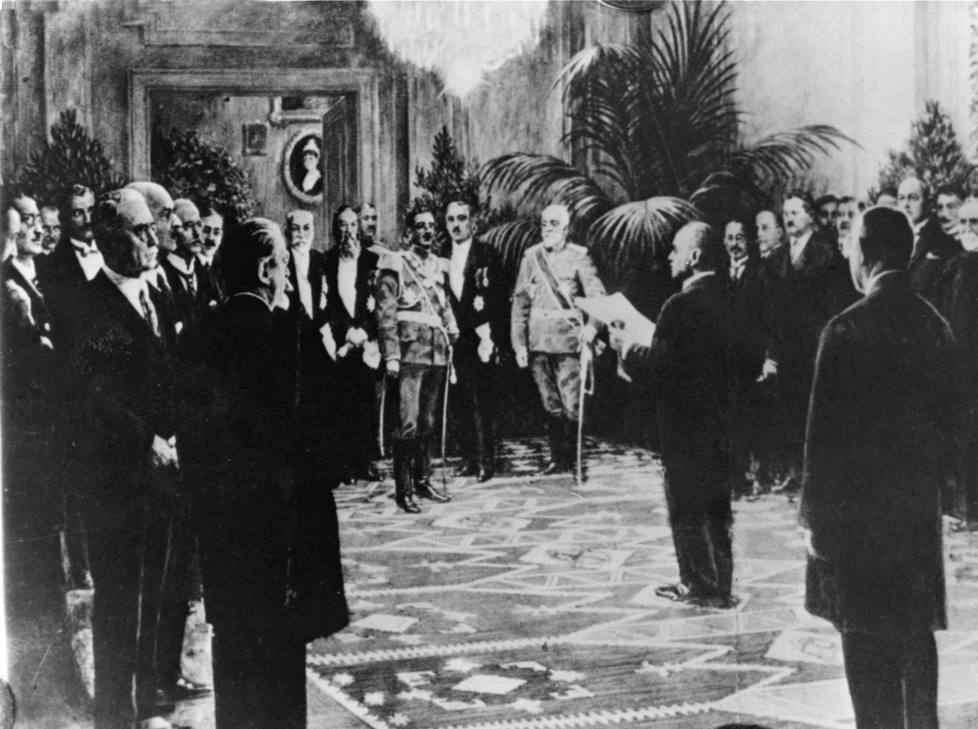 jugoslaw. Nationalrat bei Alexander 1918