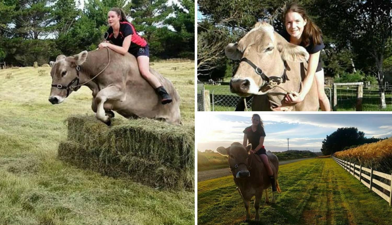 Godinama jaše na kravi jer joj roditelji nisu željeli kupiti konja