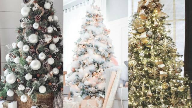 Top kombinacije boja za drvce: Rustikalni drveni ukrasi i bijela