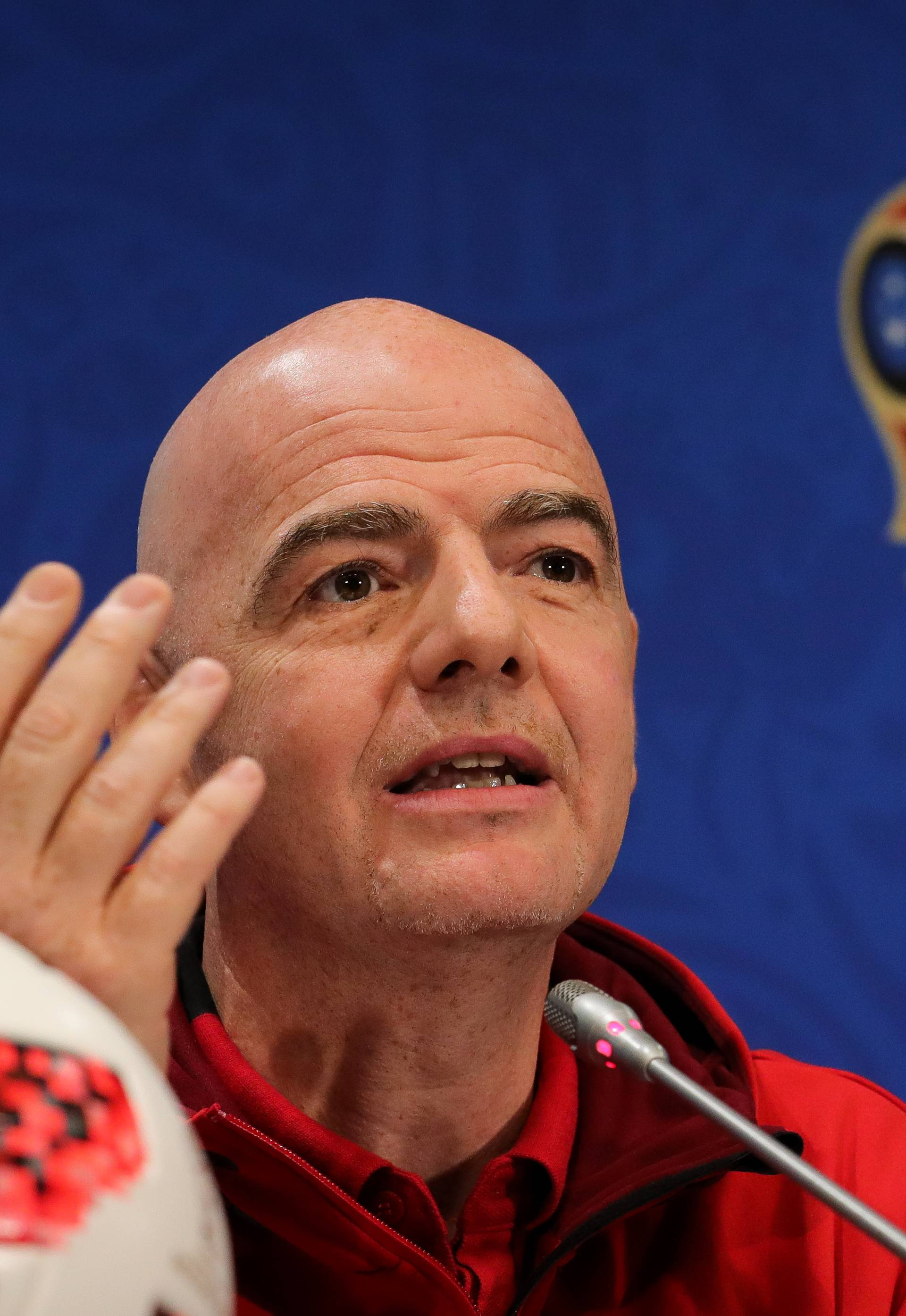 World Cup 2018 - Press conference with FIFA President Infantino