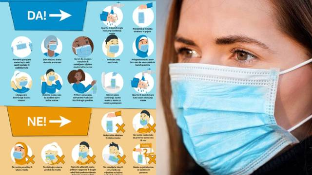 Vodič za nošenje maski HZJZ-a: Koliko dugo štiti i kad je baciti
