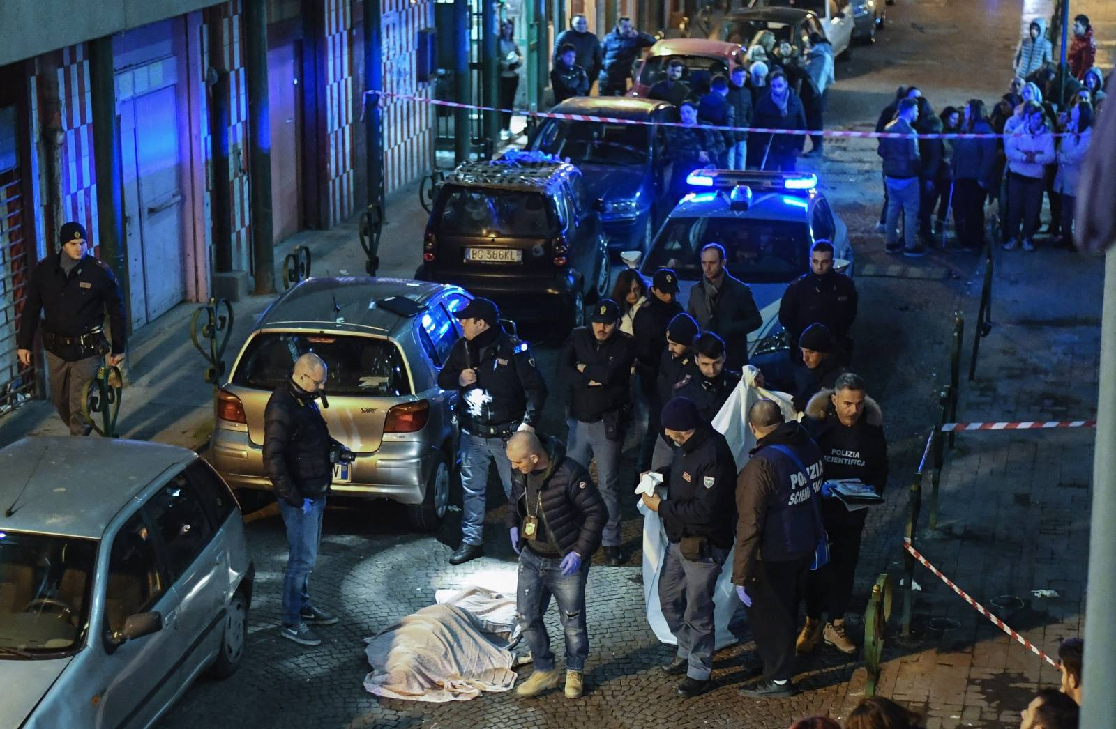 Camorra's ambush, a 54-year-old woman, Annamaria Palmieri, was killed in an ambush in via del'Alveo Artificiale, in the district of San Giovanni a Teduccio in Naples.