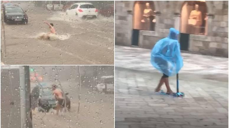 Stavio peraje pa plivao ulicom, romobilom jurila kroz poplavu
