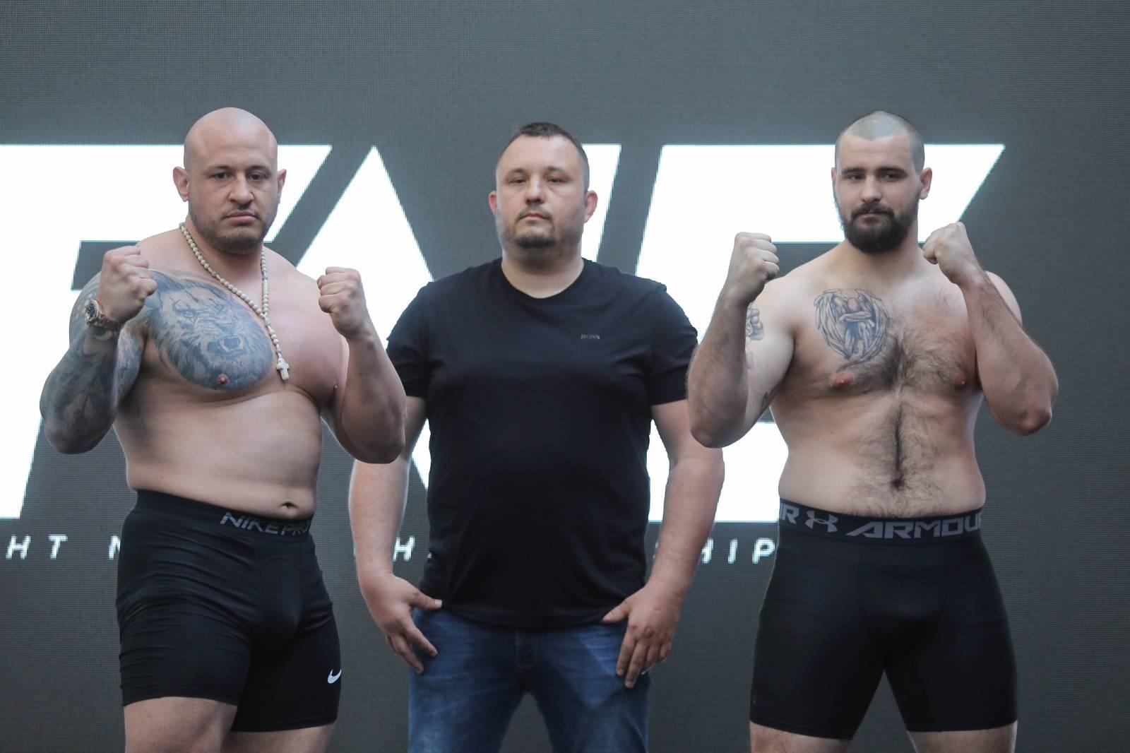 Zagreb:  Održano je vaganje i sučeljavanja uoči MMA turnira Armagedon
