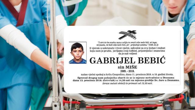 Podignute optužnice protiv triju liječnica Hitne pomoći i sestre zbog smrti malog Gabrijela (9)