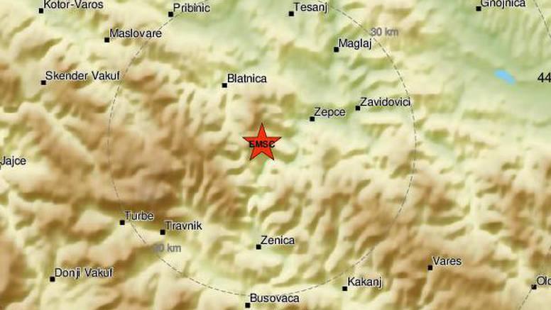 Potres od 4,2 po Richteru pogodio Bosnu i Hercegovinu