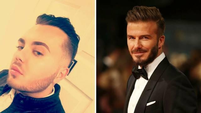 Želio je izgledati poput Beckhama