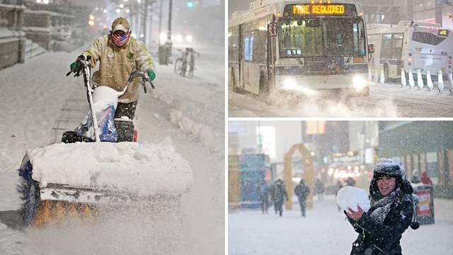 Snježna oluja desetljeća: 1300 letova otkazano, u lančanom sudaru 60 auta ima poginulih