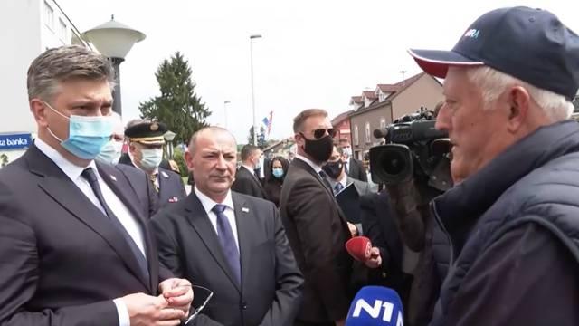 General pokušao dobiti odgovor od Plenkovića u Okučanima pa ustvrdio: 'Nisam zadovoljan'
