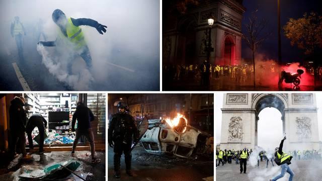 Užasni prizori: Gori na ulicama Pariza, uhitili 224 prosvjednika