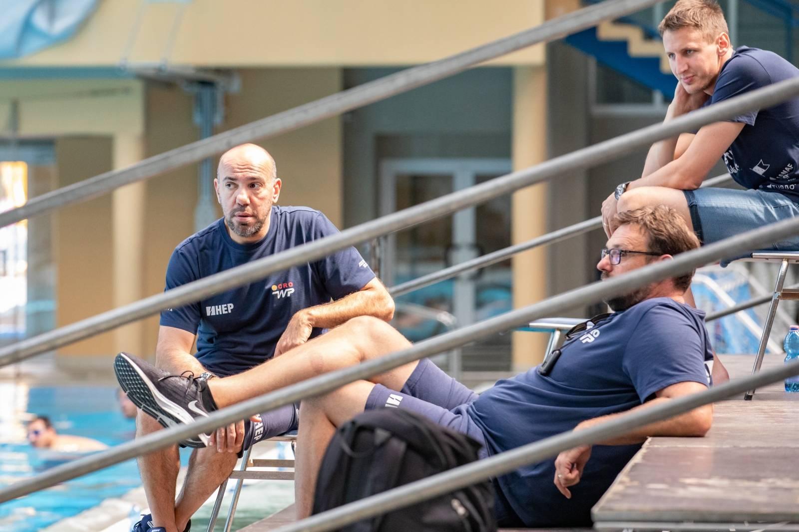 Trening hrvatske vaterpolo reprezentacije u Dubrovniku