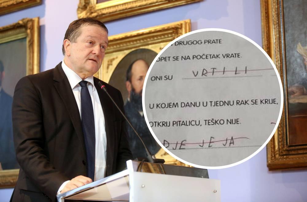 'To je krivo': Rektor Boras ne zna riješiti zadatak za prvašiće