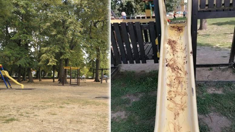 FOTO Grozan čin u Našicama: Fekalijama premazali dječji tobogan dva dana za redom