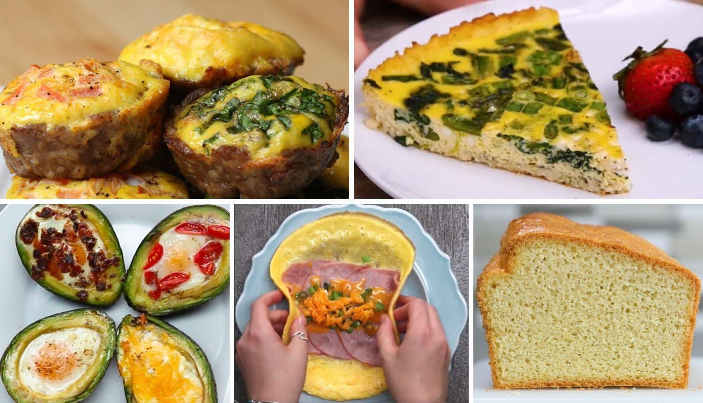 Pet recepata za doručak s malo ugljikohidrata - za više energije