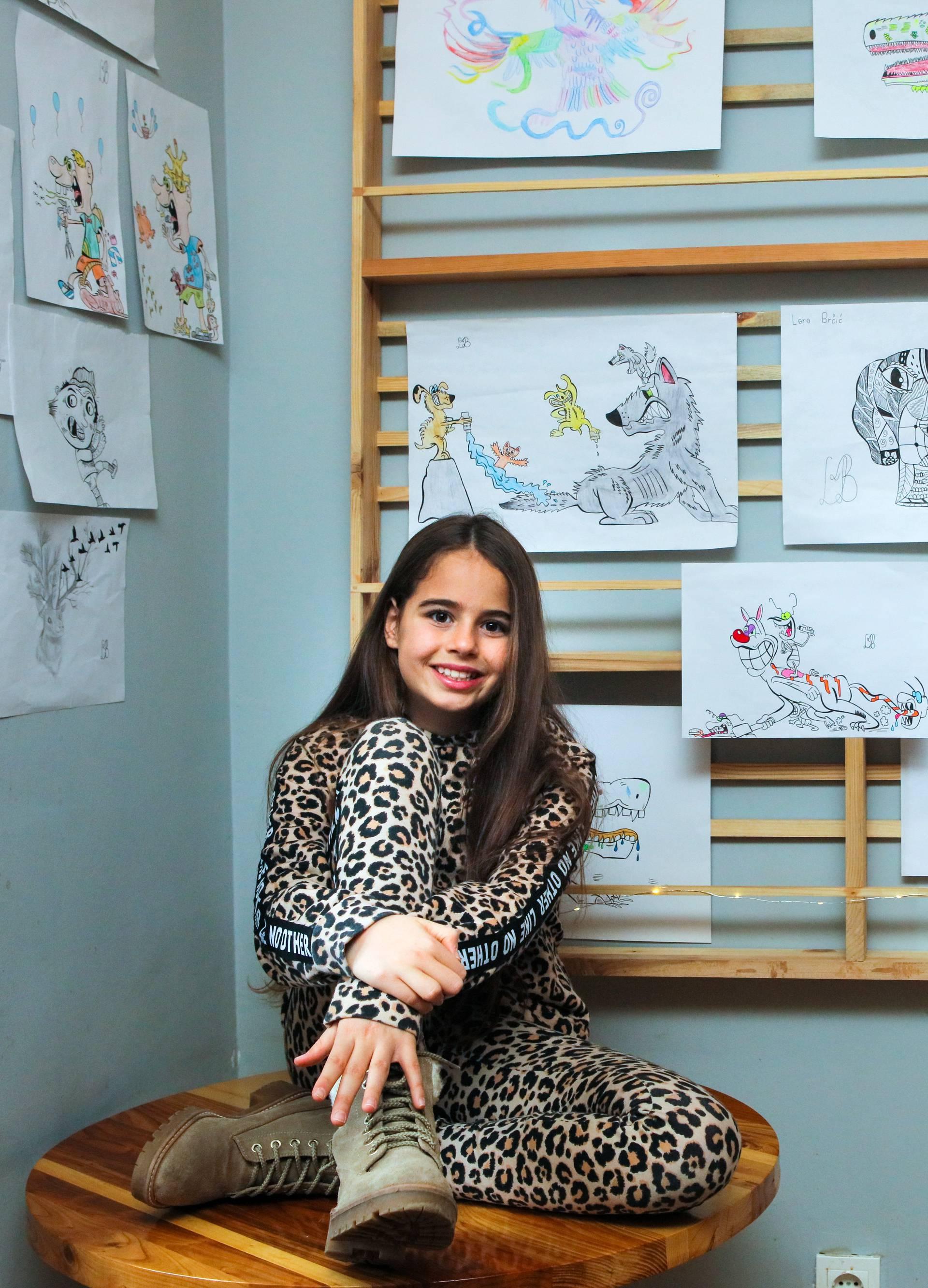 Lara (11) iz Vinkovaca: Tešku bolest pobijedila sam crtanjem