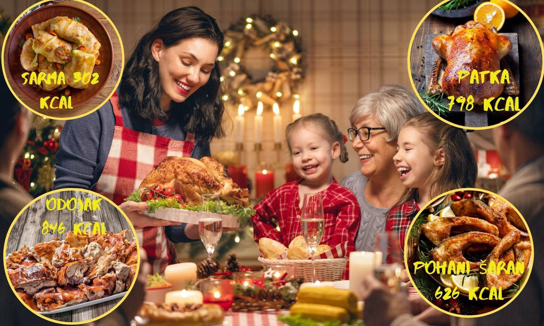Božić u kalorijama: Odojak i 2 žlice francuske - 846 kalorija!