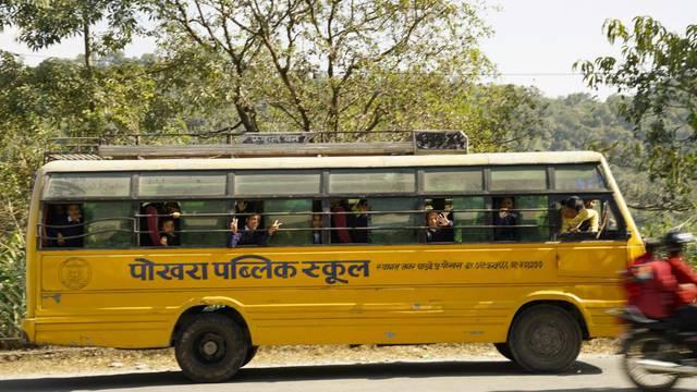 Nepal: Traveling by school bus