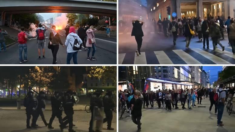 Neredi u Ljubljani: Privedeno 25 ljudi, troje zadržano. Nekoliko je policajaca lakše ozlijeđeno