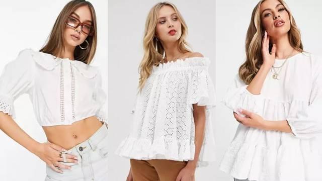 Stilske prednosti bijele bluze: Volani, perforacije i ženstvenost