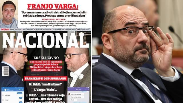Nacional objavio poruke Brkića i Franje Varge: 'Ima li intime?'