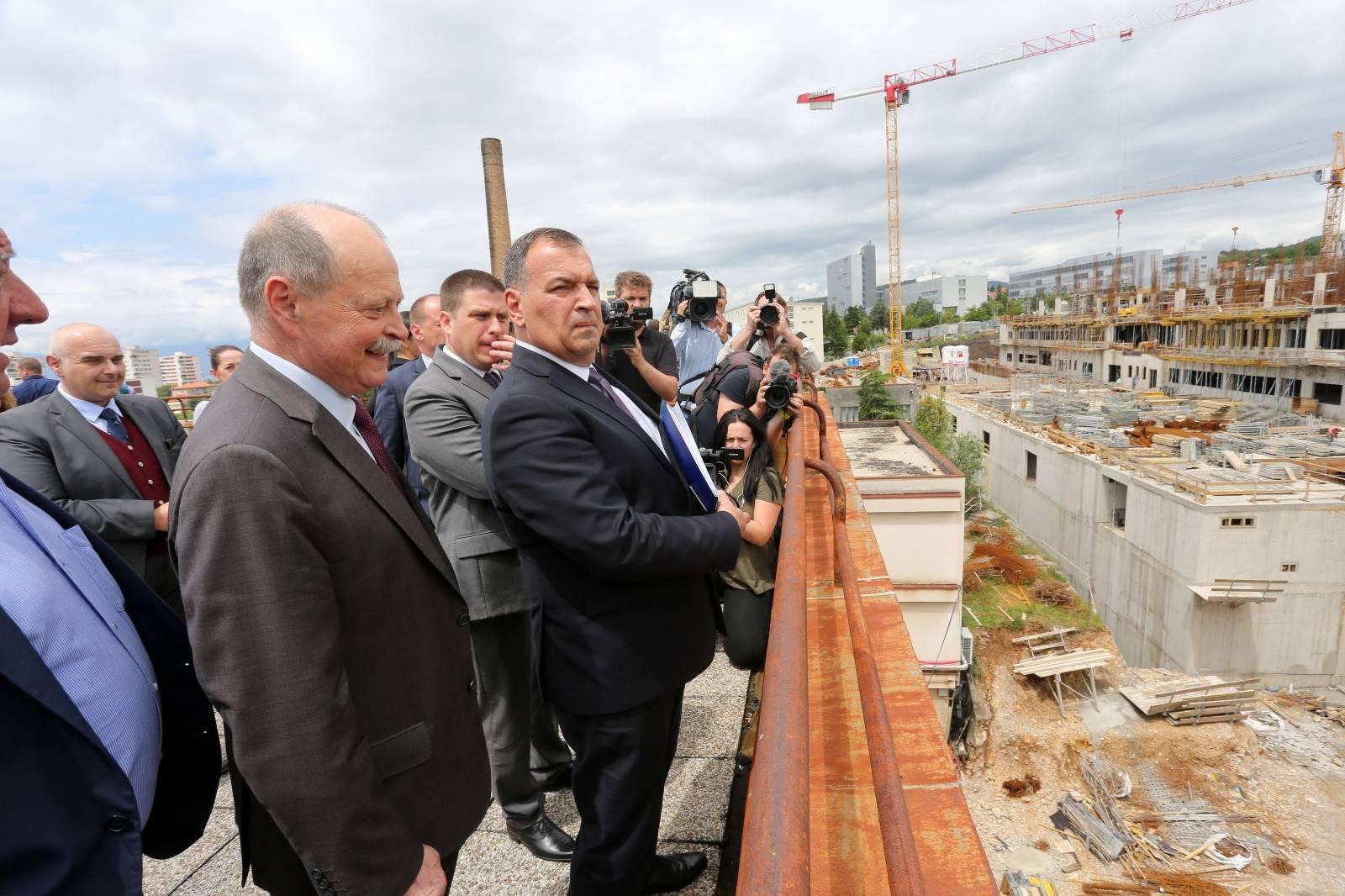 Rijeka: Ministar Vili Beroš u obilasku KBC Rijeka i gradilišta nove bolnice na Sušaku
