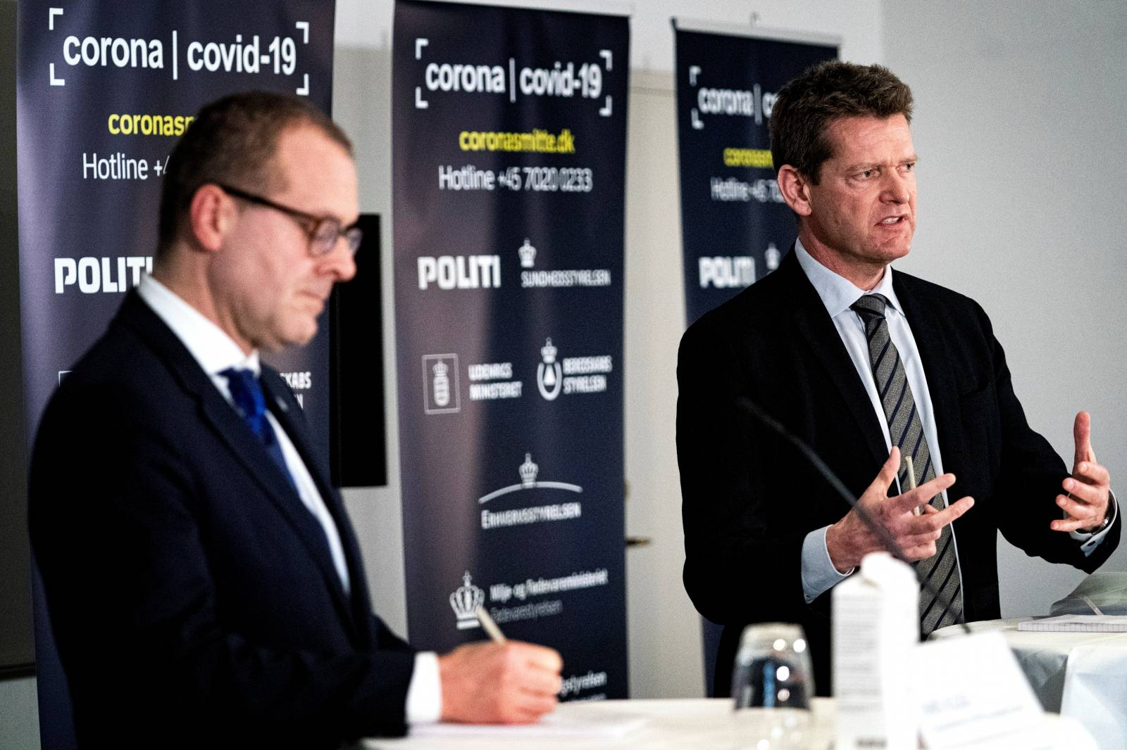 News conference about the coronavirus disease (COVID-19) at Eigtveds Pakhus, in Copenhagen