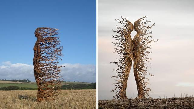 Pravi nevjerojatne skulpture od otpadnog metalnog materijala